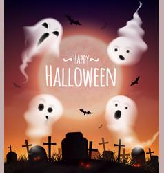 Halloween realistic poster vector