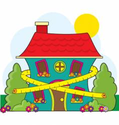 house and tape measure vector image