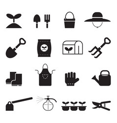 icon agricultural tools vector image