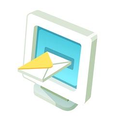 icon monitor vector image