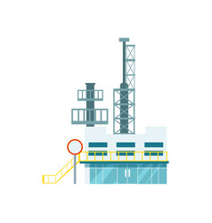 Industrial factory isolated icon vector