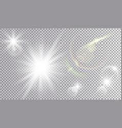 Light effects cosmic set vector