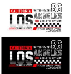 los angeles california 86 typography design vector image