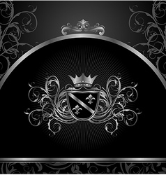 Luxury vintage aluminium frame template vector