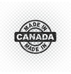 Made in canada stamp on isolated background vector