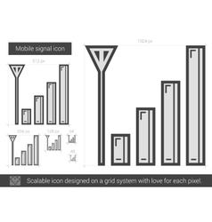 Mobile signal line icon vector