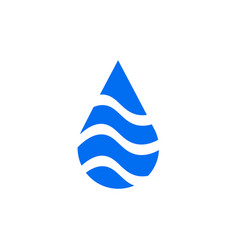 natural aqua - water drop logo design template vector image