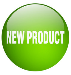 New product green round gel isolated push button vector