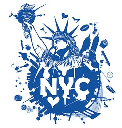 new york city background vector image
