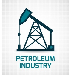 Oil industry poster vector
