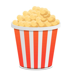popcorn bucket icon cartoon style vector image