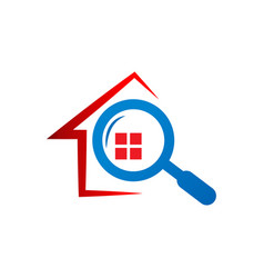 real estate finder logo concept vector image