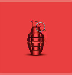 Realistic hand grenade 3d military isolated vector