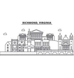Richmond virginia architecture line skyline vector