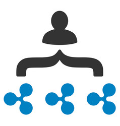 Ripple collector flat icon vector