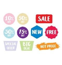 Sale symbol Special offer label vector