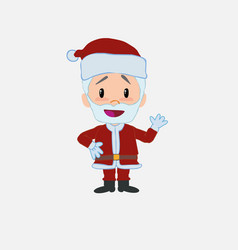Santa claus waving happy vector