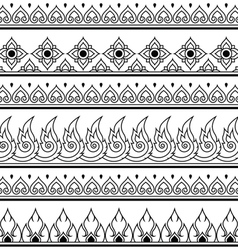 Seamless Thai pattern repetitive design vector