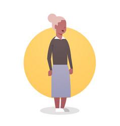 Senior woman african american grandmother gray vector