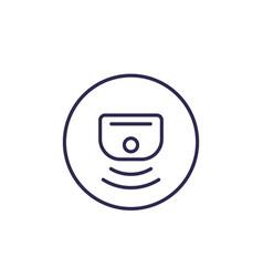 Sensor line icon vector