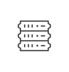 Server equipment line outline icon vector