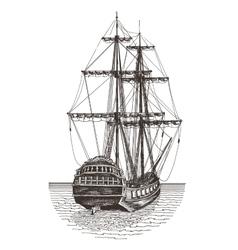 Ship logo design template frigate vector