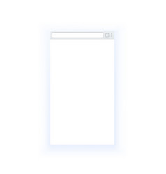 simple style blank mobile browser window isolated vector image