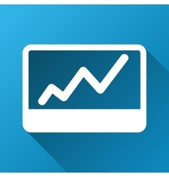 Stock Market Chart Gradient Square Icon vector