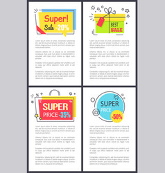 super sale and price -50 on vector image