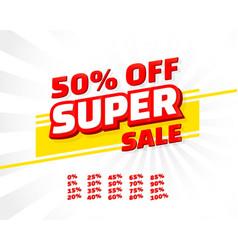super sale off shop new banner set collection vector image