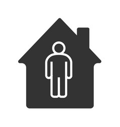 Tenant resident owner glyph icon vector