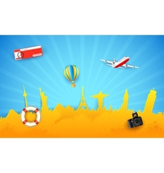 Tour and Travel vector image