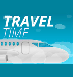 travel time concept banner cartoon style vector image
