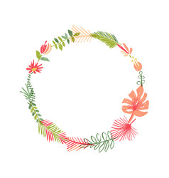 tropical flower composition tropic wreath vector image