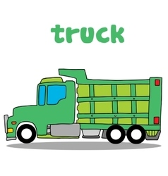 Truck cartoon design art vector