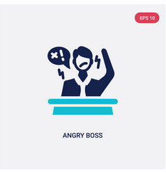 Two color angry boss icon from business concept vector