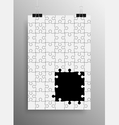 Vertical Poster A4 Puzzle Pieces White Puzzles vector image