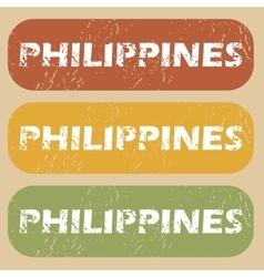 Vintage Philippines stamp set vector