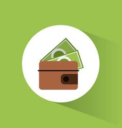 wallet dollar money vacation vector image