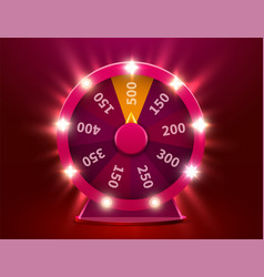 wheel fortune gamble chance leisure colorful vector image