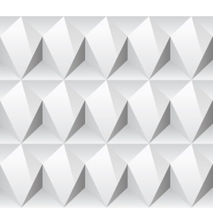White rhombus concept seamless texture vector image