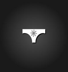 Women panties icon flat vector
