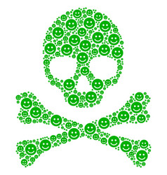 Death pattern of glad smile icons vector