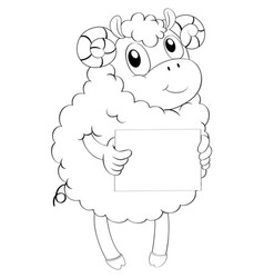 doodle animal for lamb vector image vector image