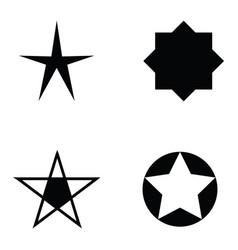 star icon set vector image vector image