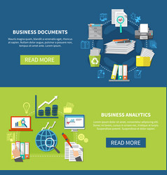 business items banner set vector image vector image