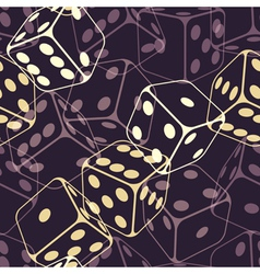 Dice seamless background pattern vector image