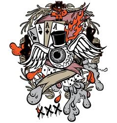 gambler tattoo vector image vector image