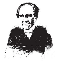 general sam houston vintage vector image vector image