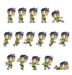 Sporty Boy Game Sprites vector image